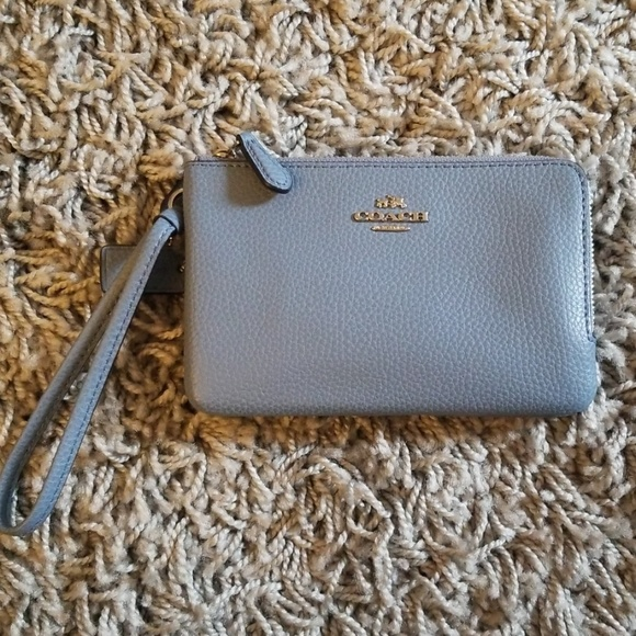 Coach Handbags - Coach medium blue wrislet